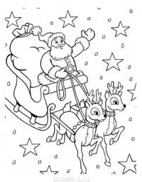 Раскраска Дедов Морозов в формате А4