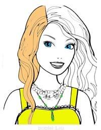 Раскраска лицо девушки A4