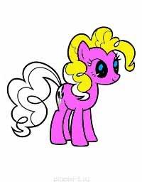 Моя милая пони - раскраски для девочек
